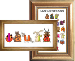 Easily create Alphabet Charts, Name Plaques and more...