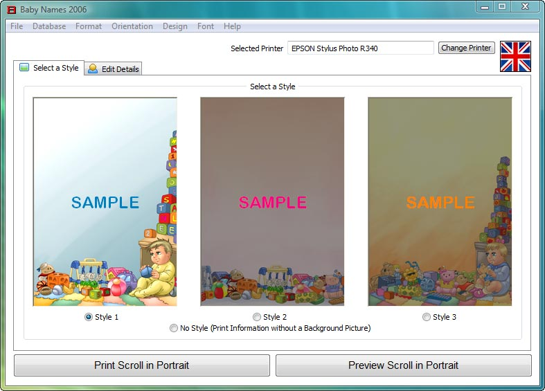 Baby names software create personalised gifts as simple as abc negle Gallery