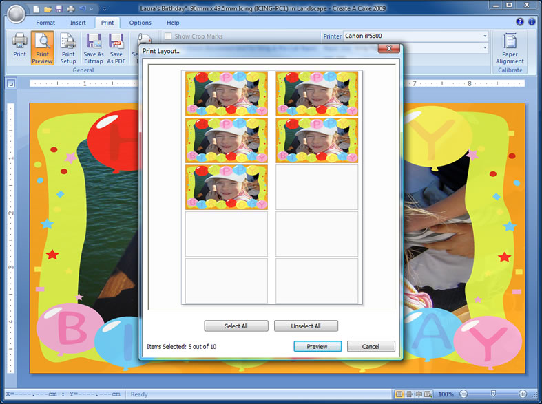 Cake Photo Printing Uk : Create A Cake Printing Software - Print and Create ...