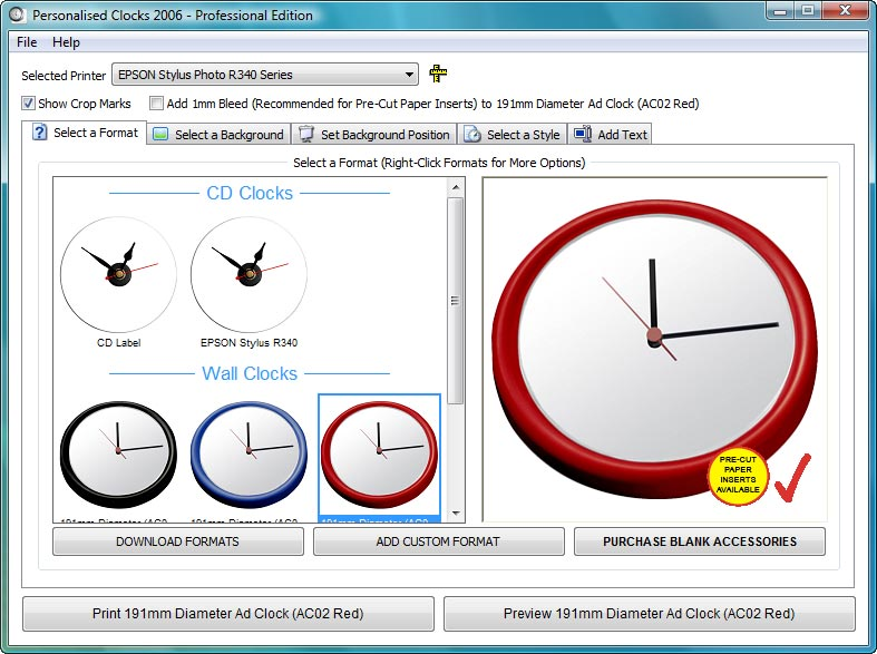 Create A Clock Software Make Your Own Personalised Cd