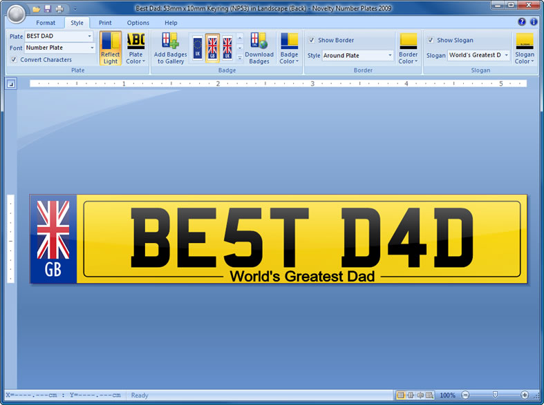 Novelty Number Plates Software   Create Personalised Novelty