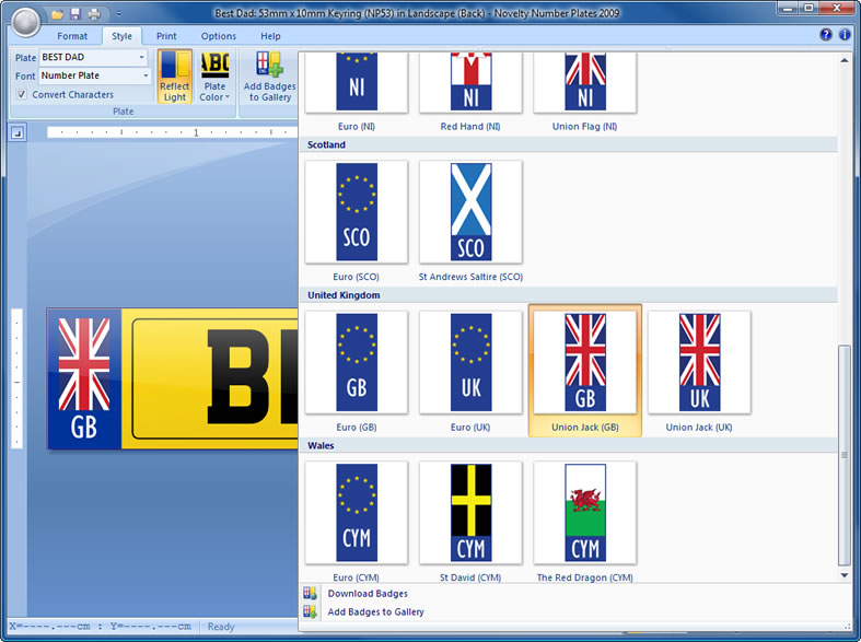 Novelty Number Plates Software Create Personalised Novelty Number