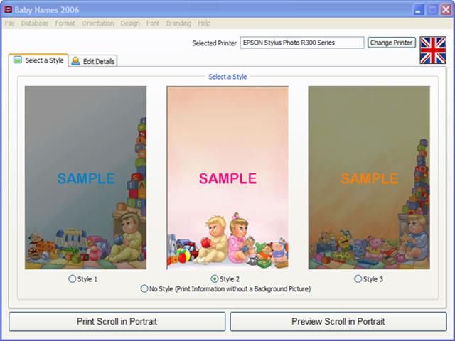 Click to view Baby Names 2008 1.5.0.1 screenshot