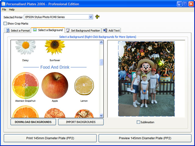Click to view Create A Plate 2008 2.0.0.1 screenshot