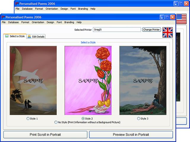 Personalised Poems 2015 Screen shot